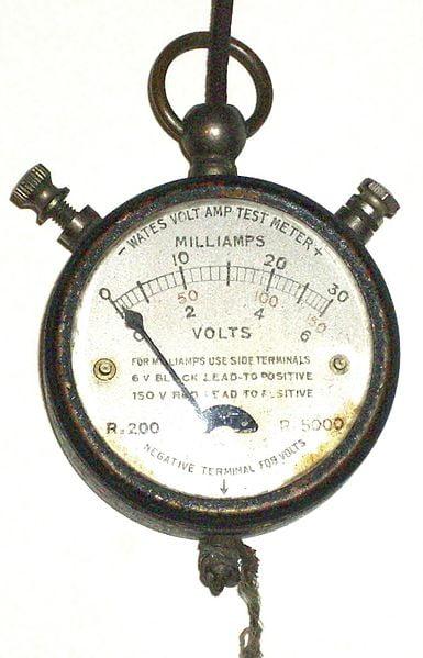 1920'lerin cep multimetresi. (kaynak: en.wikipedia.org)