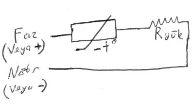NTCnin demeraj akımı önlemek için devreye seri bağlanması.