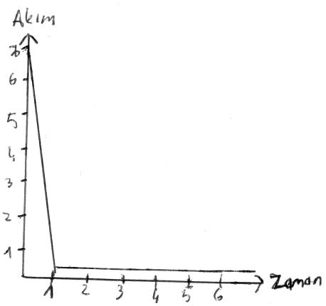 Demeraj akımını gösteren temsili akım-zaman grafiği